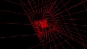 fondo rosso V3 di moto di Loopable del tunnel di Digital di fantascienza 3D royalty illustrazione gratis