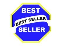 Fondo rotondo di bianco del bottone di web della guarnizione del best-seller variopinto Fotografia Stock