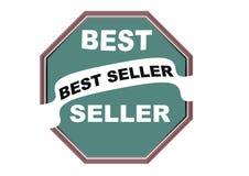 Fondo rotondo di bianco del bottone di web della guarnizione del best-seller variopinto Immagini Stock Libere da Diritti