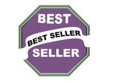 Fondo rotondo di bianco del bottone di web della guarnizione del best-seller variopinto Immagini Stock