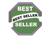 Fondo rotondo di bianco del bottone di web della guarnizione del best-seller variopinto Fotografie Stock