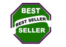 Fondo rotondo di bianco del bottone di web della guarnizione del best-seller variopinto Immagine Stock