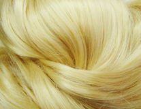 Fondo rubio de la textura del pelo del punto culminante Fotos de archivo libres de regalías