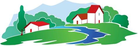 Fondo rural ilustración del vector