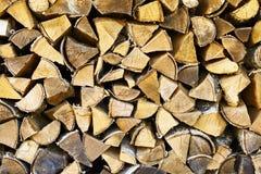 Fondo rural - madera de abedul seca Imagenes de archivo