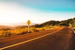 Fondo rurale del paesaggio della natura di scena della strada Fotografia Stock Libera da Diritti
