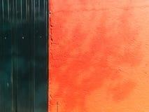 Fondo rurale rosso Mediterraneo della parete fotografia stock libera da diritti