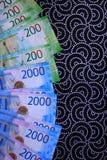 Fondo ruso del dinero, nuevas 200 y 2000 rublos denominación rusa del dinero imágenes de archivo libres de regalías
