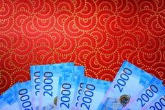 Fondo russo dei soldi, nuove 200 e 2000 rubli denominazione russa dei soldi fotografia stock