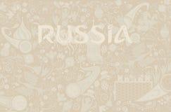 Fondo russo di ecru, illustrazione di vettore Fotografie Stock Libere da Diritti