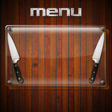 Fondo rustico del menu - lastra di vetro Fotografia Stock