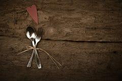 Fondo rustico di giorno di biglietti di S. Valentino o di Natale Fotografia Stock