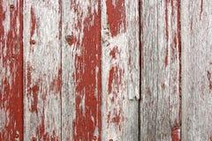 Fondo rustico rosso di legno del granaio Immagini Stock