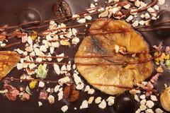 Fondo sabroso del chocolate Imagen de archivo