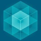 Fondo sacro di simboli e degli elementi della geometria Fotografie Stock Libere da Diritti