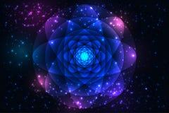 Fondo sagrado de los símbolos y de los elementos de la geometría ilustración del vector