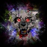 Fondo sangriento del extracto del hombre lobo ilustración del vector