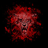 Fondo sangriento del extracto del hombre lobo libre illustration