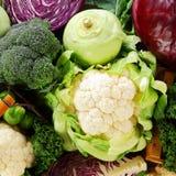 Fondo sano de verduras crucíferas Fotografía de archivo