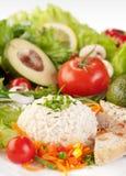 Fondo sano del alimento, arroz con los vehículos Foto de archivo
