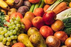 Fondo sano dell'alimento biologico Immagine Stock