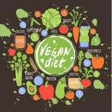 Fondo sano dell'alimento di dieta del vegano, quadro televisivo Fotografia Stock Libera da Diritti