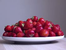 Fondo sano di gray dello strawberr Fotografie Stock