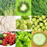 Fondo sano verde dell'alimento Fotografie Stock Libere da Diritti