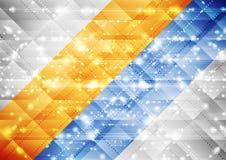 Fondo scintillante astratto brillante luminoso di tecnologia Immagine Stock