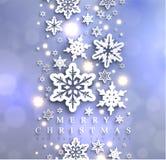 Fondo scintillante blu freddo di Natale con i fiocchi di neve royalty illustrazione gratis