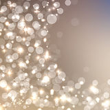 Fondo scintillante di Natale elegante Fotografie Stock