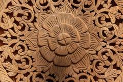 Fondo scolpito legno Immagini Stock