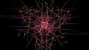 Fondo scuro astratto d'ardore illustrazione vettoriale
