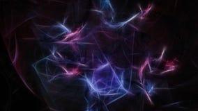 Fondo scuro astratto di energia di caos con i piccoli flash Immagini Stock