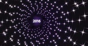 Fondo scuro con la spirale luminosa delle stelle Fotografie Stock