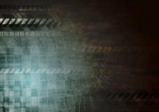 Fondo scuro di lerciume di ciao-tecnologia Fotografia Stock Libera da Diritti