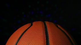 Fondo scuro di pallacanestro della luce di cuoio della discoteca nessuno metraggio del hd