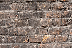 Fondo scuro di struttura del muro di mattoni Fotografie Stock Libere da Diritti