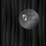Fondo scuro di vettore delle onde astratte Immagine Stock