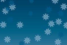 Fondo scuro e blu-chiaro di vettore del fiocco di neve Immagine Stock Libera da Diritti