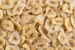 Fondo secco delle banane Vista superiore fotografie stock