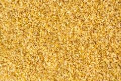Fondo seco del trigo de bulgur Imagen de archivo libre de regalías