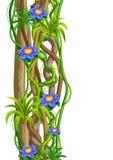 Fondo selvaggio torto dei rami delle liane Viti della giungla illustrazione di stock