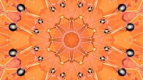 Fondo semplice astratto 3D nel colore arancio di pendenza, poli stile come fondo geometrico moderno o matematico basso illustrazione vettoriale