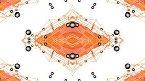 Fondo semplice astratto 3D nel colore arancio di pendenza, poli stile come fondo geometrico moderno o matematico basso illustrazione di stock