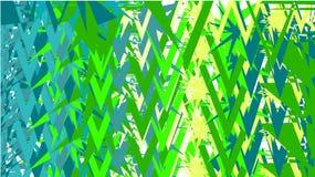 Fondo semplice, una struttura degli estratti verdi e blu minimalistic di vari triangoli luminosi differenti attaccanti scolpiti d illustrazione vettoriale