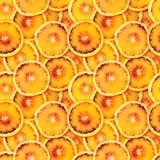 Fondo senza cuciture arancio affettato Fotografia Stock Libera da Diritti