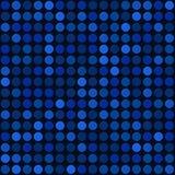 Fondo senza cuciture astratto blu con il punto delle bolle. Vettore Immagini Stock