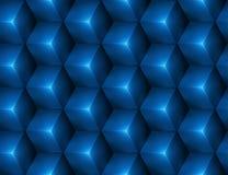 fondo senza cuciture astratto 3d con i cubi blu Immagini Stock Libere da Diritti
