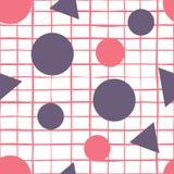 Fondo senza cuciture astratto dei cerchi e dei triangoli di vettore Illustrazione Vettoriale